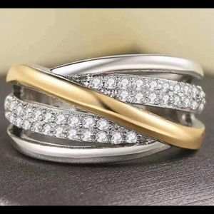 Silver & Gold Promise Ring